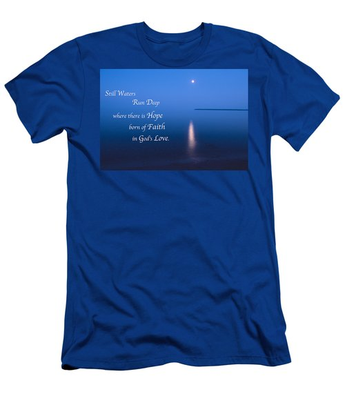 Moonrise On Lake Superior With Quote Men's T-Shirt (Athletic Fit)
