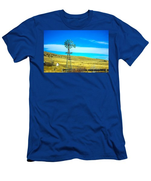 Men's T-Shirt (Slim Fit) featuring the photograph Old Windmill by Shannon Harrington