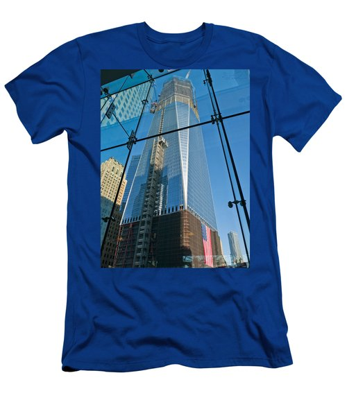 One Wtc Rising Men's T-Shirt (Athletic Fit)