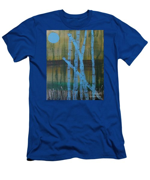 Pale Blue Moon Men's T-Shirt (Athletic Fit)