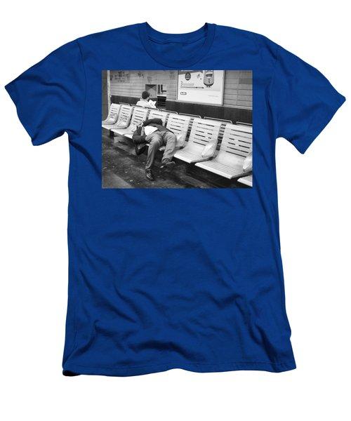 Men's T-Shirt (Slim Fit) featuring the photograph Paris Metro by Hugh Smith