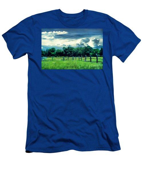 Pastoral Greenery Men's T-Shirt (Athletic Fit)