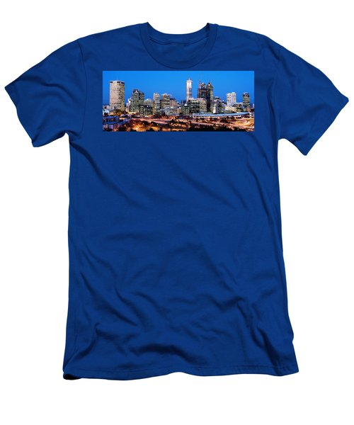 Men's T-Shirt (Slim Fit) featuring the photograph Perth City Night View From Kings Park by Yew Kwang