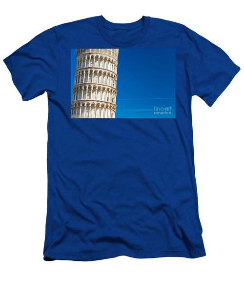 Men's T-Shirt (Slim Fit) featuring the photograph Pisa Leaning Tower by Luciano Mortula