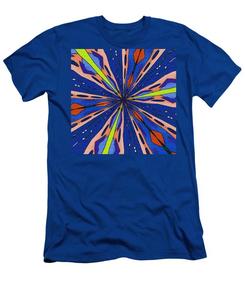 Men's T-Shirt (Slim Fit) featuring the digital art Portal To The Past by Alec Drake