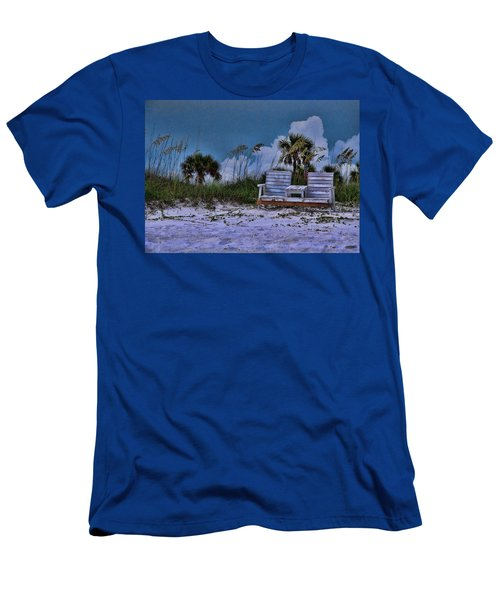 Seat On The Dunes Men's T-Shirt (Athletic Fit)