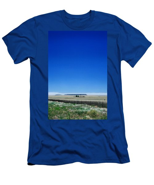 Men's T-Shirt (Slim Fit) featuring the photograph Somewhere On Hwy 285 Number One by Lon Casler Bixby