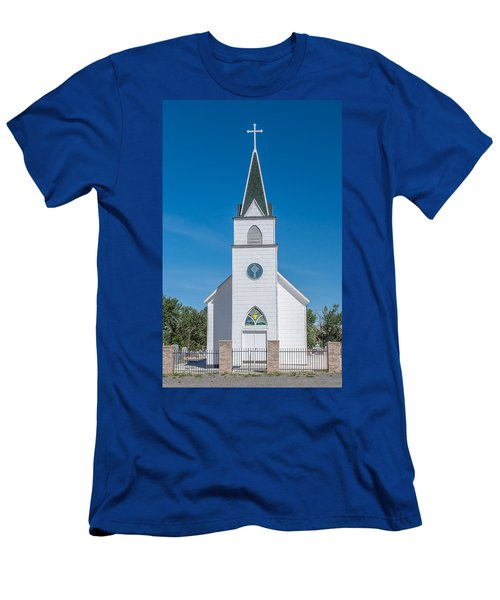Men's T-Shirt (Slim Fit) featuring the photograph St. John The Evangelist Catholic Church by Fran Riley