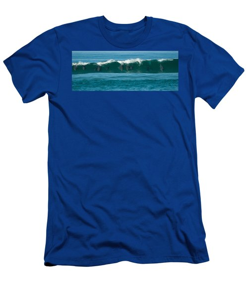 Surfing Dolphins 2 Men's T-Shirt (Athletic Fit)