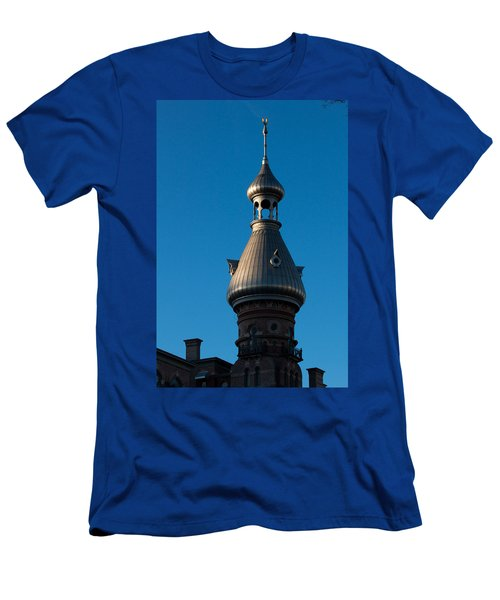 Men's T-Shirt (Slim Fit) featuring the photograph Tampa Bay Hotel Minaret by Ed Gleichman