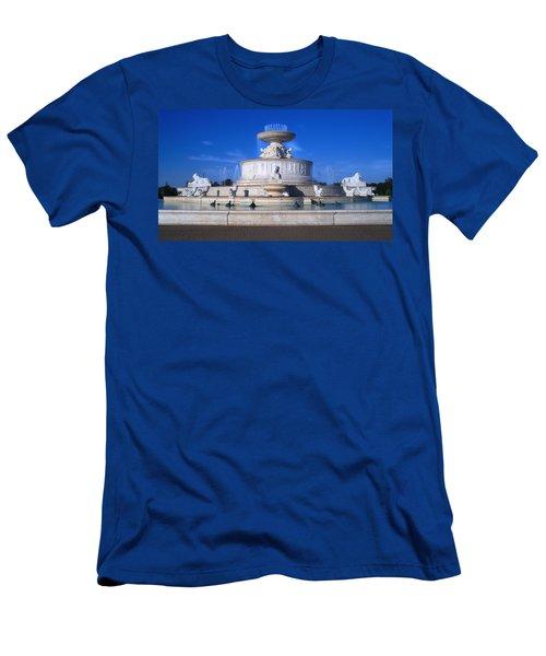Men's T-Shirt (Slim Fit) featuring the photograph The Belle Isle Scott Fountain by Gordon Dean II