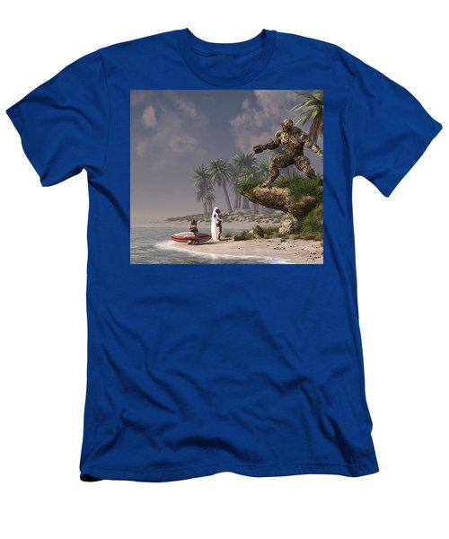 The Surf God   Men's T-Shirt (Athletic Fit)