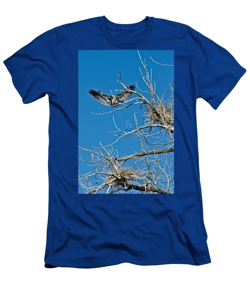 Time To Nest Men's T-Shirt (Slim Fit) by Colleen Coccia