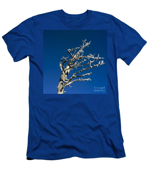 Tree In Winter Against A Blue Sky Men's T-Shirt (Athletic Fit)