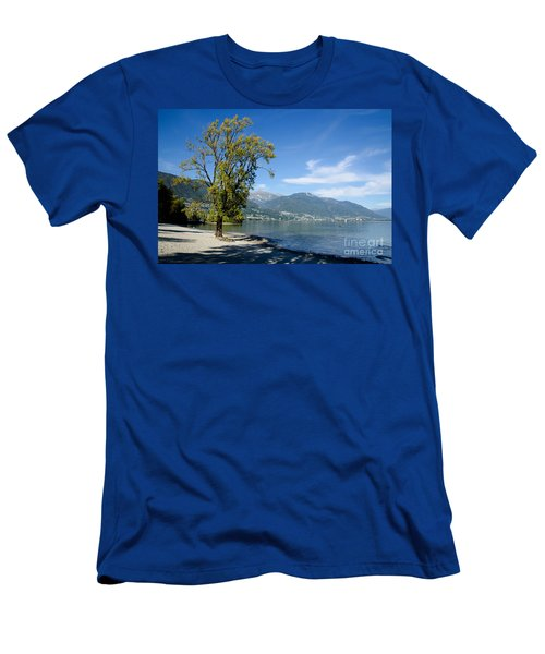 Tree On The Beach Men's T-Shirt (Athletic Fit)