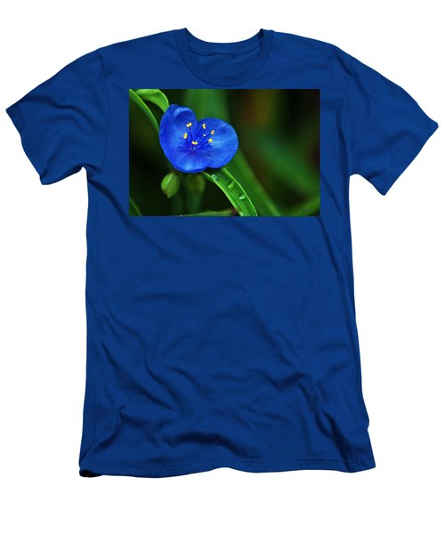 Yellow Blue And Raindrops Men's T-Shirt (Athletic Fit)