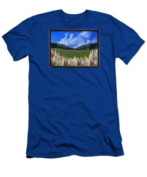 Men's T-Shirt (Slim Fit) featuring the photograph  A Beautiful View by Bernd Hau