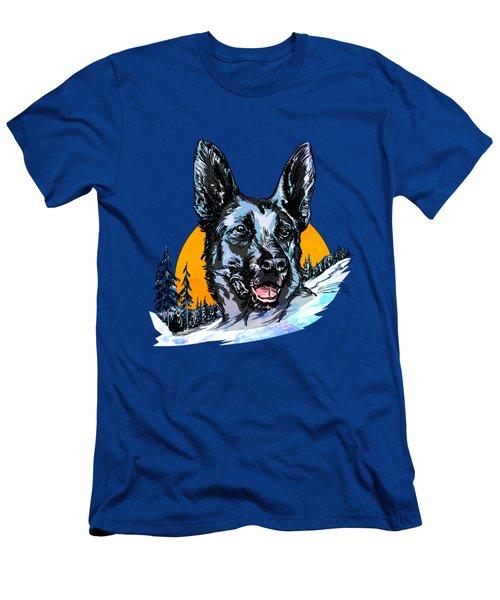 Alsatian Men's T-Shirt (Athletic Fit)