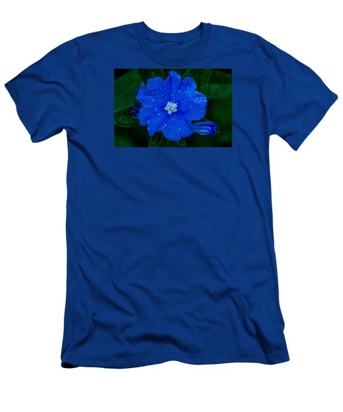 Men's T-Shirt (Slim Fit) featuring the photograph  Evolvulus Glomeratus by Keith Hawley