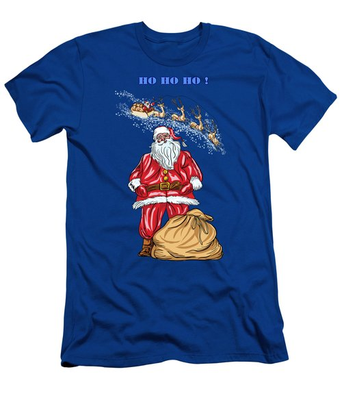 Men's T-Shirt (Slim Fit) featuring the painting  Santa Claus by Andrzej Szczerski