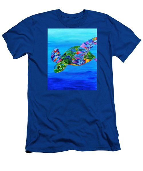 Abstract Mehndi Sea Turtle  Men's T-Shirt (Athletic Fit)