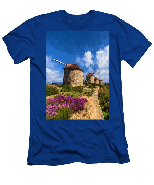 Windmills Of Portugal Men's T-Shirt (Athletic Fit)