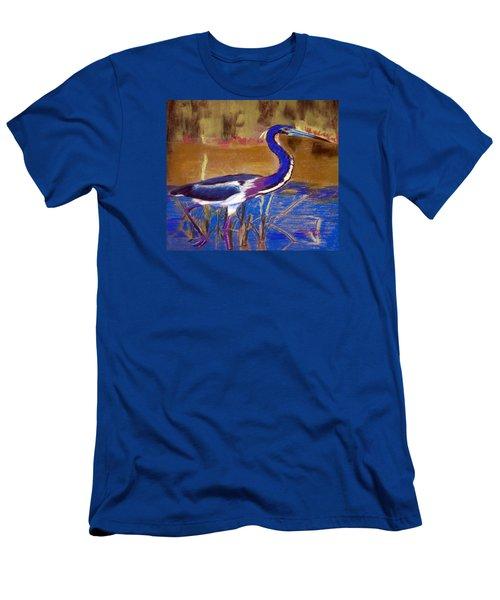 081315 Heron Men's T-Shirt (Athletic Fit)