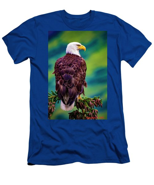 Alaska Bald Eagle Men's T-Shirt (Athletic Fit)