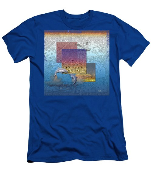 Blue Lagoon Sunrise  Men's T-Shirt (Athletic Fit)