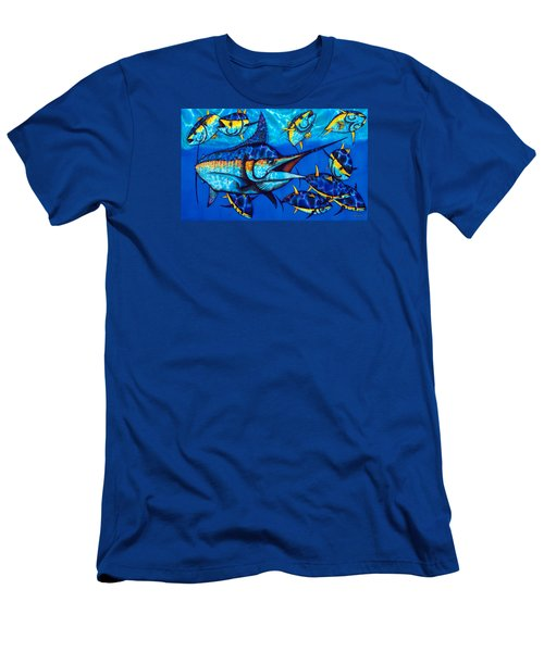 Blue Marlin Men's T-Shirt (Athletic Fit)