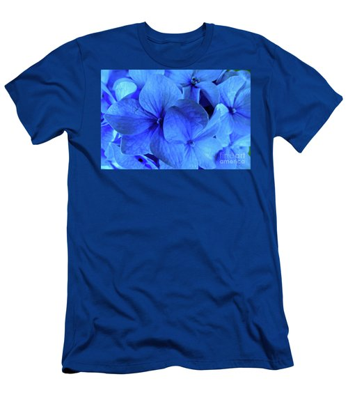 Blue Men's T-Shirt (Slim Fit) by Nancy Patterson