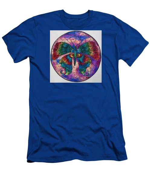 Butterfly Mandala Men's T-Shirt (Slim Fit) by Megan Walsh