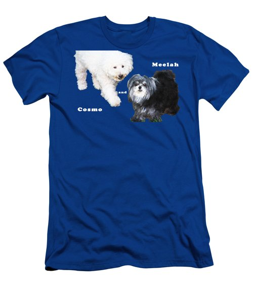 Cosmo And Meelah 1 Men's T-Shirt (Slim Fit) by Terry Wallace