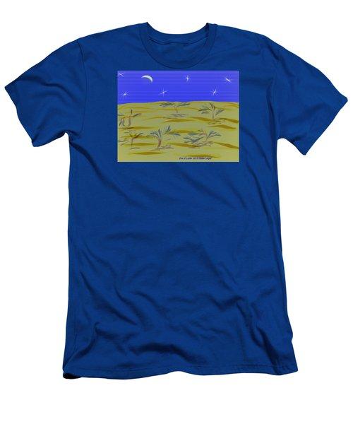 Men's T-Shirt (Slim Fit) featuring the digital art Desert Night by Dr Loifer Vladimir