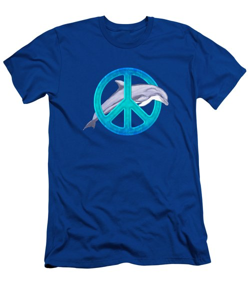 Dolphin Peace Men's T-Shirt (Athletic Fit)