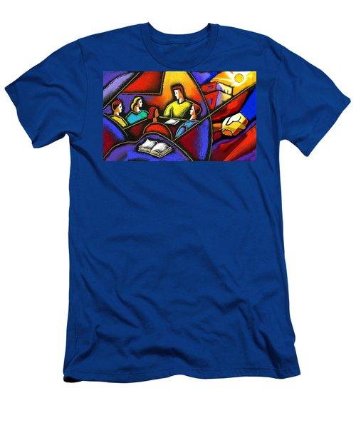 Men's T-Shirt (Slim Fit) featuring the painting Enterprise by Leon Zernitsky