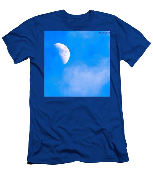 Finally Some #bluesky And The #moon Men's T-Shirt (Athletic Fit)