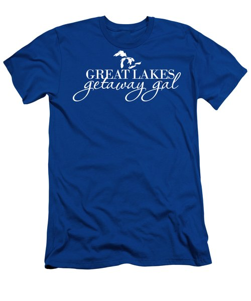 Great Lakes Getaway Gal--white Script Men's T-Shirt (Athletic Fit)