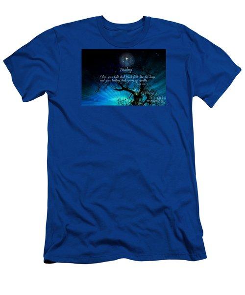 Men's T-Shirt (Slim Fit) featuring the digital art Healing Art By Sherri Of Palm Springs by Sherri  Of Palm Springs