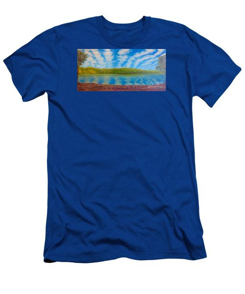 My Serenity Lies In A Place Between Heaven And Earth Men's T-Shirt (Athletic Fit)