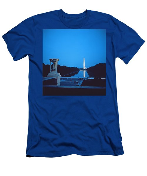 Night View Of The Washington Monument Across The National Mall Men's T-Shirt (Slim Fit) by American School