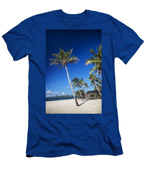 Puka Beach In Tropical Paradise Boracay Philippines Men's T-Shirt (Athletic Fit)