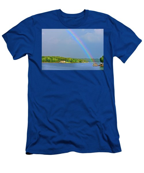Smith Mountain Lake Rainbow Men's T-Shirt (Athletic Fit)