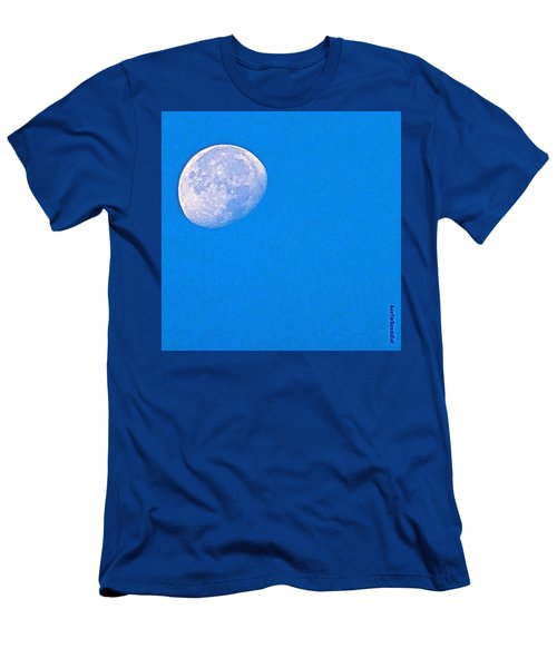 The #moon This #morning. #bluesky Men's T-Shirt (Athletic Fit)