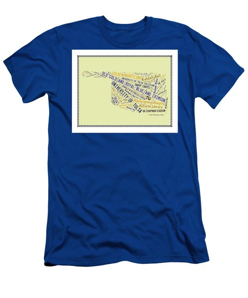 Tu Word Art University Of Tulsa Men's T-Shirt (Athletic Fit)