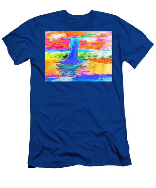 Watercolor Sailing Men's T-Shirt (Slim Fit) by Scott D Van Osdol