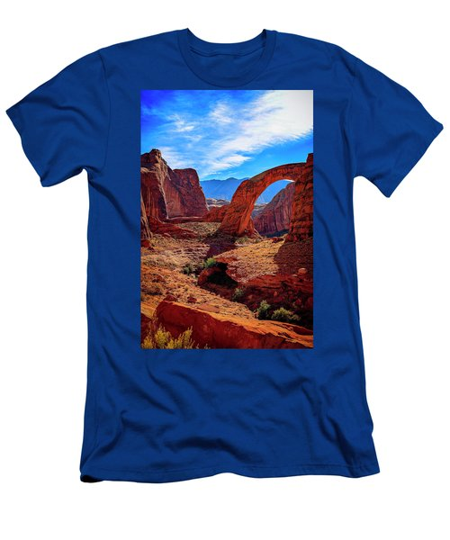 Men's T-Shirt (Athletic Fit) featuring the photograph Rainbow Bridge Monument by Peter Lakomy