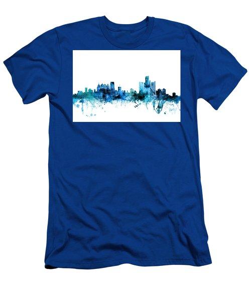 Detroit Michigan Skyline Men's T-Shirt (Athletic Fit)