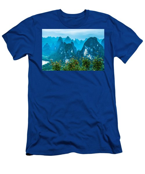 Men's T-Shirt (Athletic Fit) featuring the photograph Karst Mountains Landscape by Carl Ning