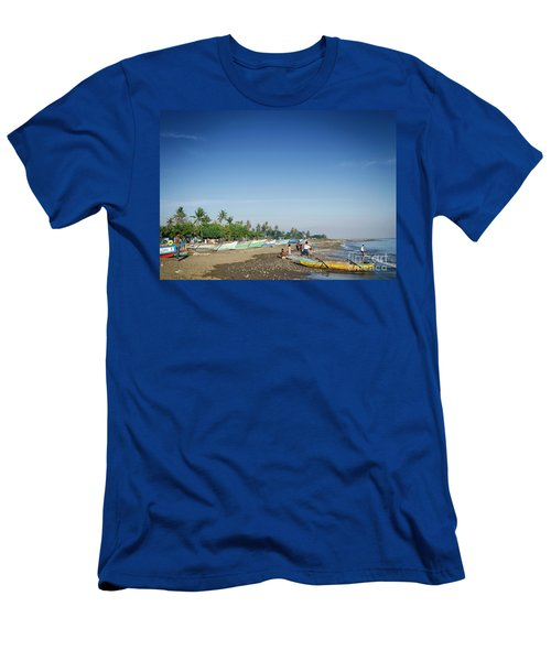Traditional Fishing Boats On Dili Beach In East Timor Leste Men's T-Shirt (Athletic Fit)